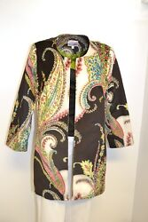 3 Sisters Jacket S 2012 3s715 Open Front Tunic Coat Made N Usa