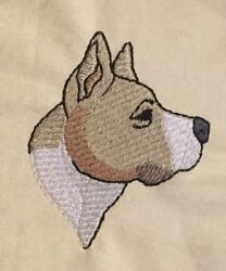 Staffordshire Bull Terrier Hand Towel Embroidered Custom Personalized Dog