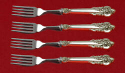 Grande Baroque By Wallace Sterling Silver Fish Fork Set 4-piece Custom 7 1/2 Ws