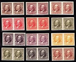 Us 224tc5 6c 1890 Issue 12 Different Trial Colors Pairs Complete Scv 2,880