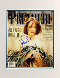 Jodie Foster Authentic Signed Matted Premiere Magazine Cover Photo Psa J00008
