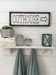 Outhouse Sign Bathroom Sign