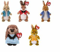 Ty Beanie Baby 6 Cottontail Flospy Mopsy Peter Rabbit Mrs Tiggy Winkle Plush