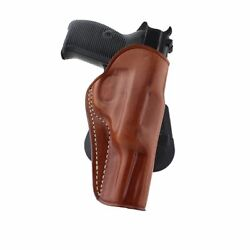 Leather Owb Paddle Holster With Open Top Fits Walther P38 9mm 4.9bbl 1228
