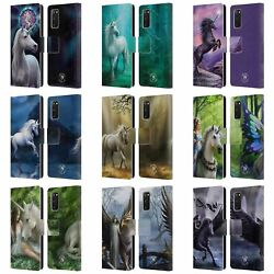 Official Anne Stokes Mythical Creatures Leather Book Case For Samsung Phones 1