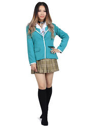 Rosario To Vampire Cosplay Costume Yokai Private Academy Akashiya Moka Uniform