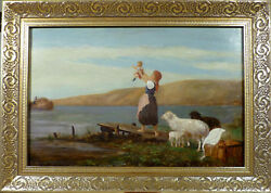 Unindentified - Unsigned Welcome Home - Mother And Child At The Coast.