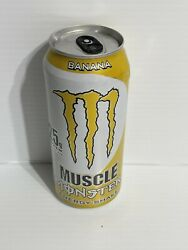 Monster Energy Drink Muscle Banana Can. Rare Collector Can. Has A Ding. See Pucs