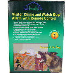 Fast Free Ship Safefamilylife Visitor Chime And Watch Dog Barking Alarm W/ Remote
