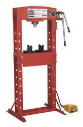Air Or Hydraulic Press 30tonne Floor Type With Foot Pedal From Sealey