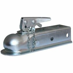 Husky Towing 87073 2 Ball 2 Width Straight Trailer Coupler With Chain