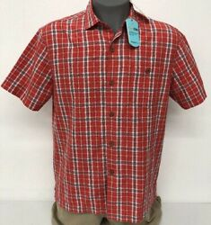 Tommy Bahama Check O Lada Red Flash Button Up Men#x27;s Shirt M NWT $128