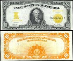 10 1907 Gold Note Fr1170a Napier/thompson - Xf Ld