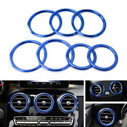 Blue Air Conditioner VentOpening Outer Trim Covers For Mercedes W205 X205 C GLC