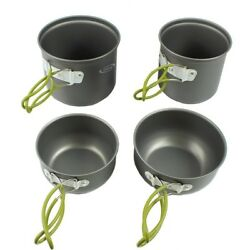 4-Set Cookware Package For Camping Backpacking Cooking Mess Kit EssentialsGear