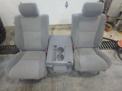 2010-2013 Toyota Tundra Front Seat Grey Cloth Manual Oem Driver And Passenger