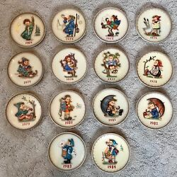 M. I. Hummel Annual Plates 1971-1984 14 In Sequence With Hangers