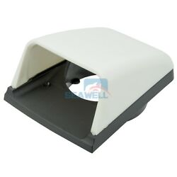 Boat Plastic Clam Shell Vent Cowl Air Vent With Base Hull Mount Marine Hardware