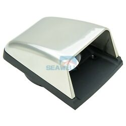 Stainless Steel Hull Mount Vent Marine Boat Cowl Clam Shell Air Vent With Base