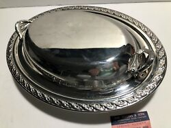 Wm. Rogers And Son Spring Flower Double Vegetable Dish 2012 - Silver Plated