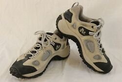 MERRELL Size 8.5 CHAMELEON VENTILATOR LOW BONE Womens Light Gray Hiking Sneakers