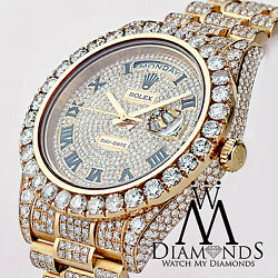Rolex Day Date II President 41mm Rose Gold 33 Carat Custom Diamonds