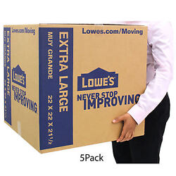 Pack Of 5 Extra Large Cardboard Boxes 22 X 22 Moving Shipping Packing Supplies