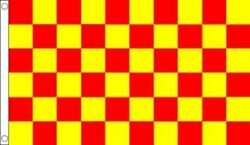 Red And Yellow Checkered Flag Banner Advertising Business Sign 3x5-free Shipping