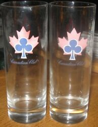 Canadian Club Cocktail Glass Set Of 2