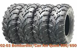 02-03 Bombardier/can Am Quest 500/650 Full Set Atv Tires 25x8-12 And 26x10-12 P373