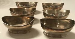 Antique 1803 Robert And Samuel Hennell Sterling Silver George Iii Nuts Set 6 Bowl