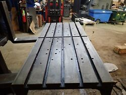 49 X22 X 5 Steel Weld T-slotted Table Cast Iron Layout Plate Jig 5 Slot