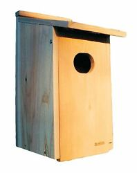 Duck House Cedar Ornithologic Wood Design Brown Surface Mount Handcrafted