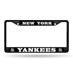 New York Yankees Authentic Metal BLACK License Plate Frame Auto Truck Car NWT