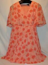 Torrid NWT Cute Floral Faux Front Wrap Midi Dress Size 16 Free Shipping! $30.00