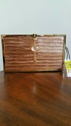 Kate Landry Copper and Gold Evening Bag Clutch Purse
