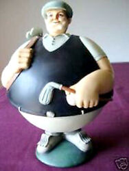 Dept 56 Golfer Candy Dish Figurine Flip Tops Container Stainless 6 Bowl New
