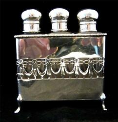 Silver Scent Perfume Bottle Casket And Swag Detail Birmingham C1908
