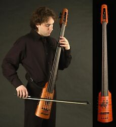 NS Design CR4 Electric 4-String Fretless Amber Finish Omni Bass with Gig Bag $3,439.00