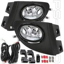 For 2002-2005 Civic Si Hatchback 3dr W/bezel Switch Wire Ep3 Clear Fog Lights