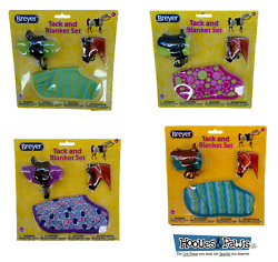Breyer 1:12 Classic Model Horse Tack  Blanket and Bridle Play Set Assorted