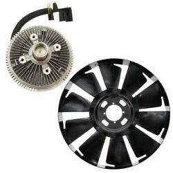 Radiator Cooling Electronic Fan Clutch And Blade Kit For Chevy Gmc Buick Suv New