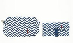 CATHY'S CONCEPTS 132729 Personalized Cosmetics Bag & Makeup Brush Set