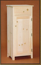 New Amish Unfinished Solid Pine   Primitive Jelly Cabinet   Rustic Handmade