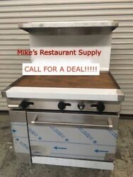 New 36 Gas Range Flat Top Griddle And Oven Base Stratus Sr-g36 7230 Commercial