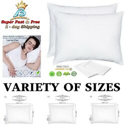 Bamboo Eco Pillow Cases Zip Pillow Protectors Standard Queen King 2 Pack Lyocell