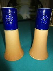 1920s Royal Doulton Stoneware And Glossy Ceramic Pair Of Vases [8]