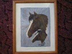 Horse Painting [year 2005] - by Debbie Musser [deceased] - VERY RARE - Original