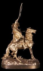 Decor Art. Russia. Lancer Bronze Sculpture. Rich Arabic merchant.