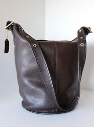 VERY RARE VINTAGE COACH Brown LARGE BUCKET DUFFLE FEED SAC BAG HANDBAG NYC VGC